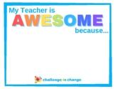 """{FREE} Teacher Appreciation - """"Shout Out"""""""
