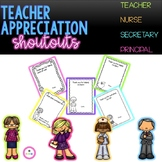 Teacher Appreciation Shout Outs