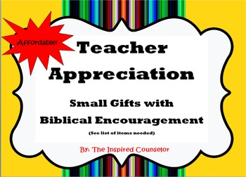 Teacher Appreciation: Small Gifts with Biblical Encouragement