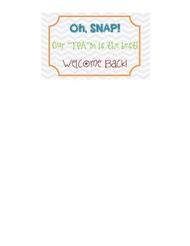 Teacher Appreciation Snapple Label
