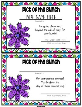 Teacher Appreciation Staff Awards FREEBIE