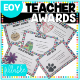 Teacher Appreciation Staff Awards {with Editable Name Fields}
