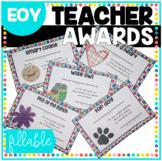 Teacher Awards End of Year Teacher Appreciation Gift