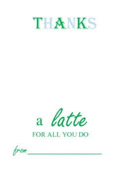 Teacher Appreciation- Starbucks/coffee