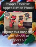 Teacher Appreciation Week Student Project & Banners