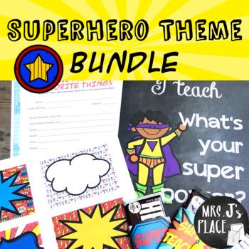 Teacher Appreciation Superhero Theme Bundle