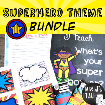Teacher Appreciation Superhero Theme Bundle