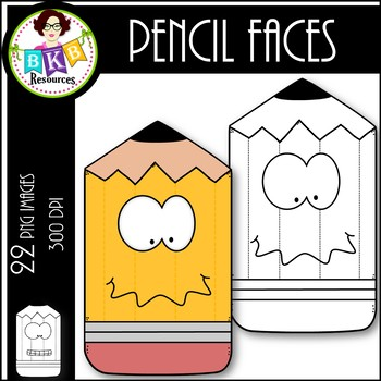 Pencil Faces ● Clip Art ● Products for TpT Sellers
