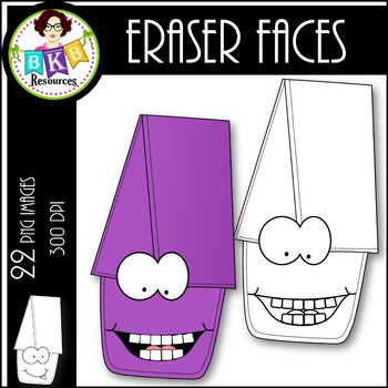 Eraser Faces ● Clip Art ● Products for TpT Sellers