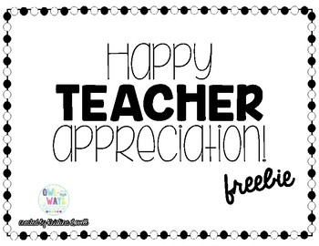 Teacher Appreciation Tag