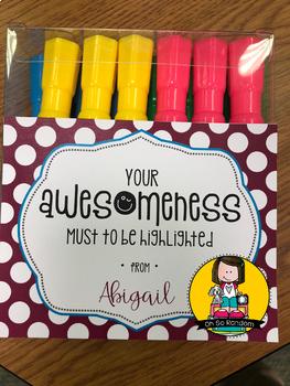 Teacher Appreciation Tag   Awesomeness