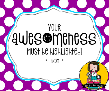 Teacher Appreciation Tag | Awesomeness