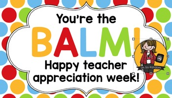 photograph regarding You're the Balm Teacher Free Printable referred to as Instructor Appreciation Tag Balm