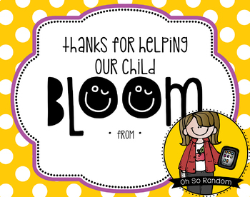 Teacher Appreciation Tag | Bloom