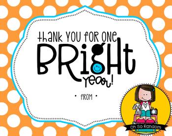 Teacher Appreciation Tag | Bright Year