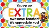 Teacher Appreciation Tag | Extra
