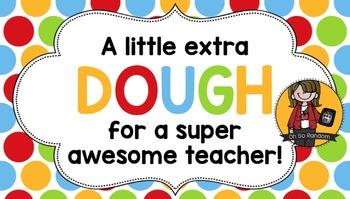 Teacher Appreciation Tag   Extra Dough
