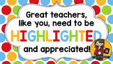 Teacher Appreciation Tag | Highlighted