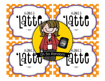 Teacher Appreciation Tag | Latte