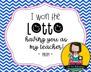 Teacher Appreciation Tag | Lotto