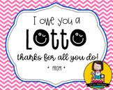 Teacher Appreciation Tag   Lotto