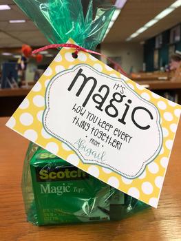 Teacher Appreciation Tag | Magic