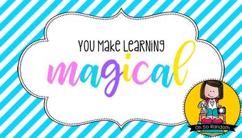 Teacher Appreciation Tag | Magical