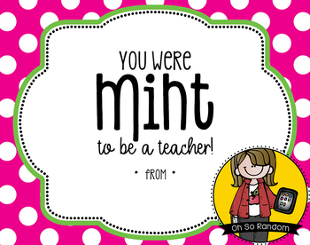 Teacher Appreciation Tag | Mint
