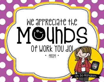 Teacher Appreciation Tag | Mounds