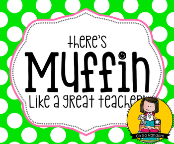 Teacher Appreciation Tag | Muffin