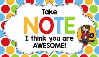 Teacher Appreciation Tag | Note