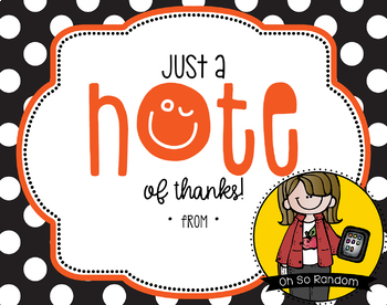 Teacher Appreciation Tag   Note