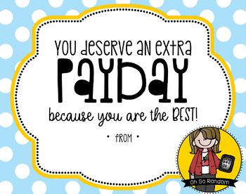 Teacher Appreciation Tag | PayDay