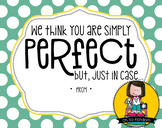 Teacher Appreciation Tag | Perfect