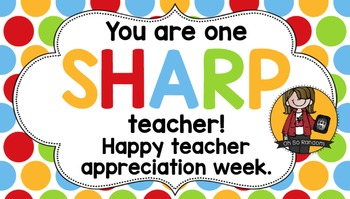 Teacher Appreciation Tag | Sharp