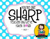 Teacher Appreciation Tag | Sharp