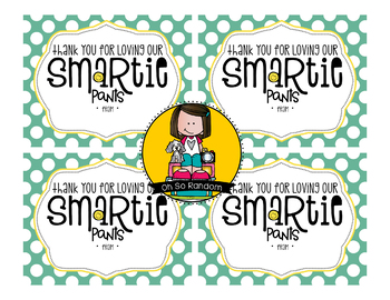 Teacher Appreciation Tag | Smartie