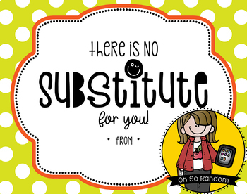Teacher Appreciation Tag | Substitute