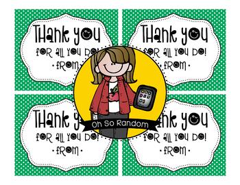 Teacher Appreciation Tag | Thank You