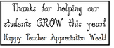 Teacher Appreciation Tag: Thanks for helping our students GROW!
