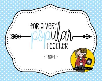 Teacher Appreciation Tag | Very POPular Teacher