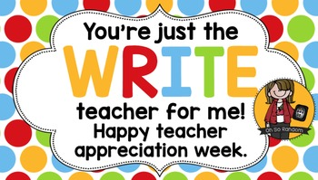 Teacher Appreciation Tag | Write