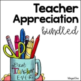 Teacher Appreciation Tags Bundled