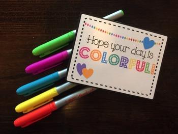 Teacher Appreciation Tags Colorful Day