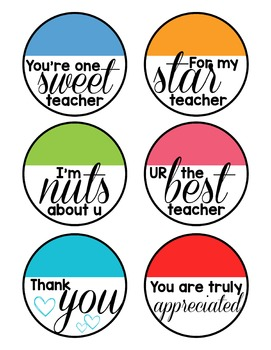 Teacher Appreciation Tags | FREEBIE
