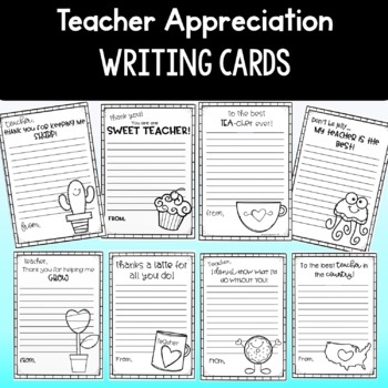 End of the year teacher appreciation note cards kindness writing cards thecheapjerseys Choice Image
