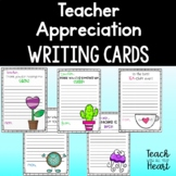 End of the year Teacher Appreciation Note Cards / Kindness