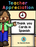 Teacher Appreciation Thank You Cards in Spanish