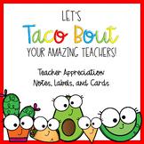 Teacher Appreciation Thank You Fiesta Theme