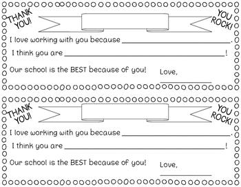 Teacher Appreciation Thank You Note